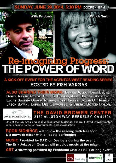 This Sunday at the Brower Center in Berkeley!
